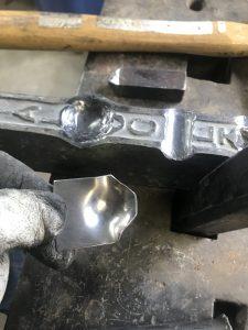 Dapped thumb plat (top)