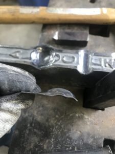 Dapped Thumb Plate (side)
