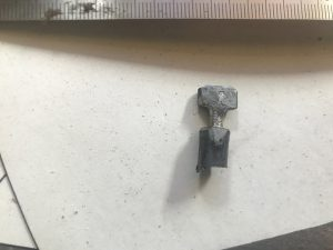 Roughed pin cut from the rod